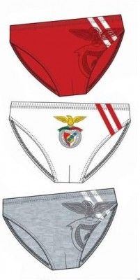 Conjunto 3 cuecas slips Benfica SLB