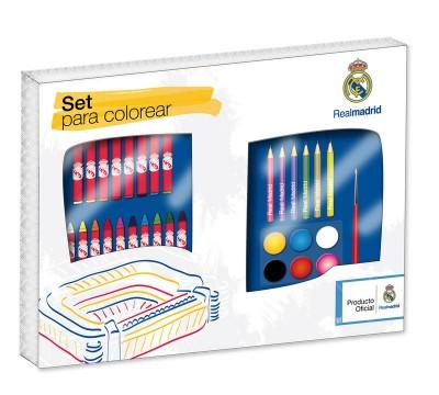 Conjunto 33 peças para colorir do Real Madrid
