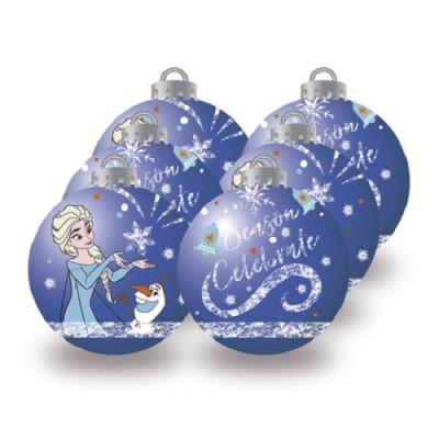 Conjunto 6 Bolas Natal Azuis Frozen