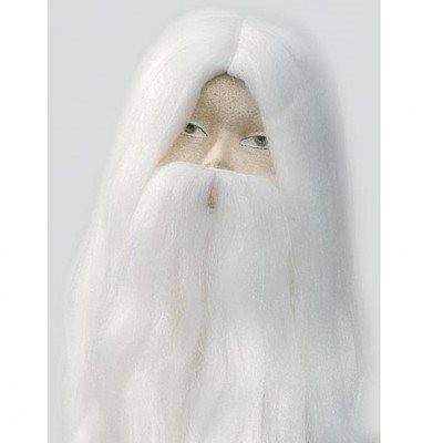 conjunto barba cabelo mago magico