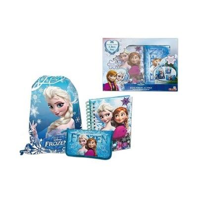 Conjunto bolsa + estojo + caderno A5 Frozen