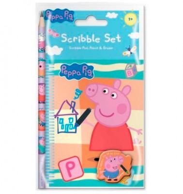 Conjunto Caderno Lapis Porquinha Peppa