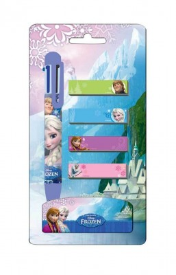 Conjunto caneta 6 cores + post-it Frozen