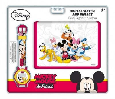 Conjunto Carteira + Relogio Mickey Friends