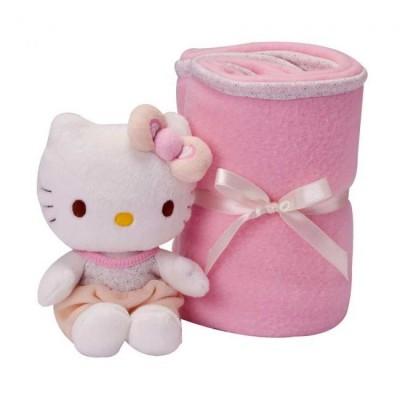 Conjunto Cobertor e Peluche Hello Kitty Baby