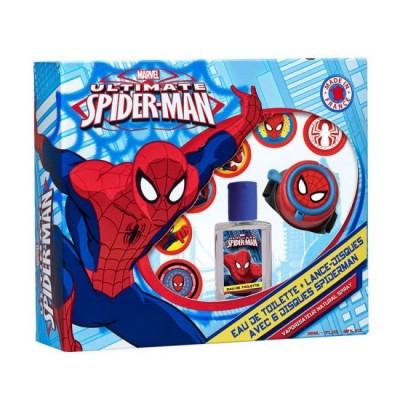 Conjunto colonia + relógio lançadiscos Spiderman Marvel