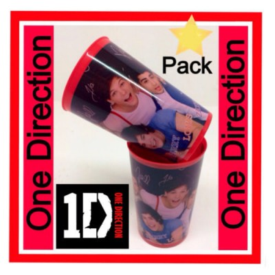 Conjunto de 2 copos red One Direction