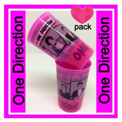 Conjunto de 2 copos rosa One Direction