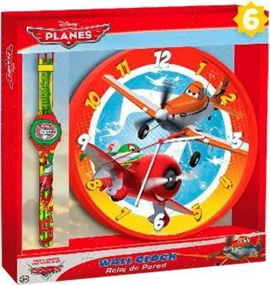 Conjunto de Relógio de Parede e digital aviões Dusty