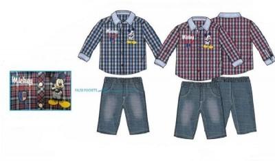 Conjunto disney Mickey sweatshirt e calças ganga 6/36 meses