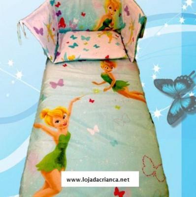 Conjunto fada sininho cama de grades