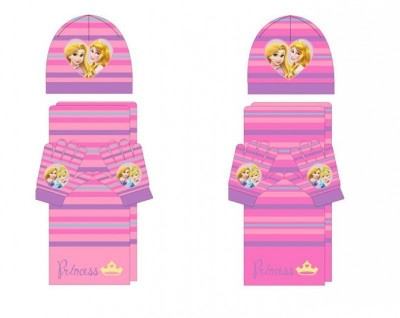 Conjunto gorro cachecol luvas Princesas Disney