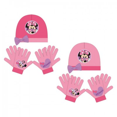 Conjunto gorro + luvas Mágicas Disney Minnie Glasses