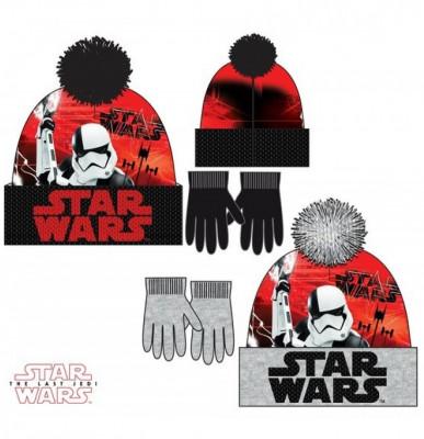 Conjunto Gorro Luvas Polar Star Wars