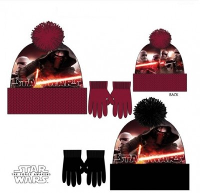 Conjunto Gorro Premium + luvas Star Wars