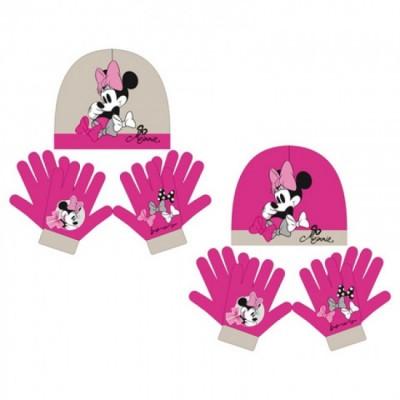 Conjunto Gorro+luvas Mágicas Disney Minnie Shy