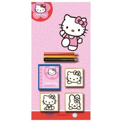 Conjunto Hello Kitty Blister com 3 borrachas