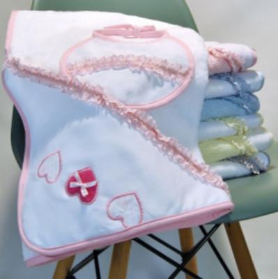 Conjunto Lençol de Banho + Babete Bebé