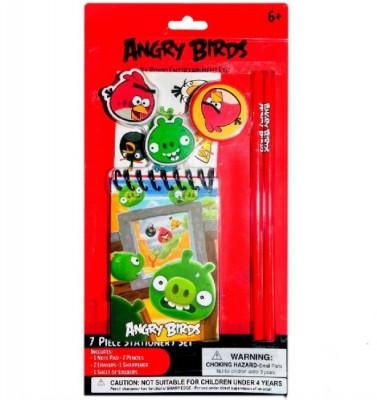 Conjunto Papelaria Angry Birds 7 peças