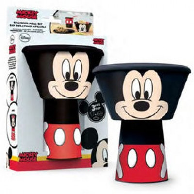 Conjunto Pequeno Almoço Mickey 3 Peças Empilhável