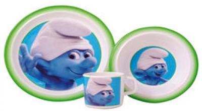 Conjunto Pequeno-Almoço Smurfs