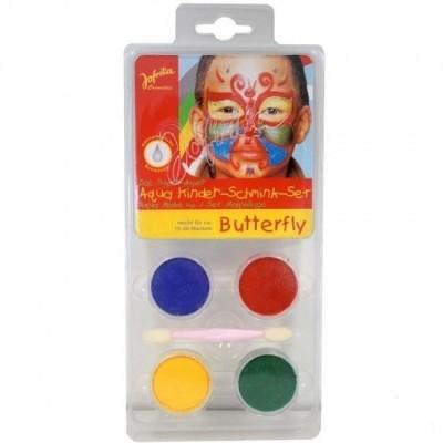 Conjunto pintura facial borboleta