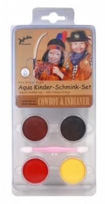 Conjunto pintura facial Cowboy ou Indio