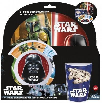 Conjunto refeição em melamina dos Star Wars