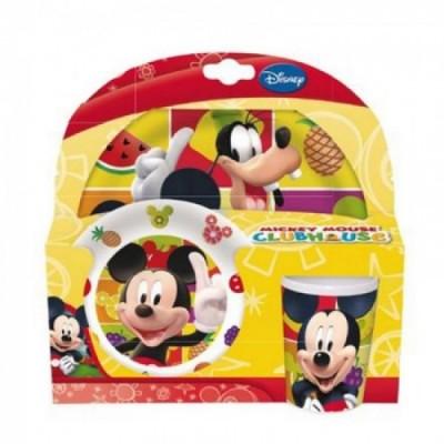 Conjunto refeição melamina Mickey e Amigos
