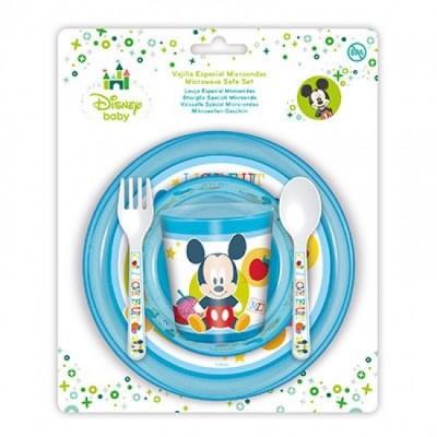 Conjunto refeição Mickey Baby 5 pcs