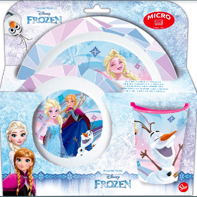 Conjunto Refeição Microondas Frozen