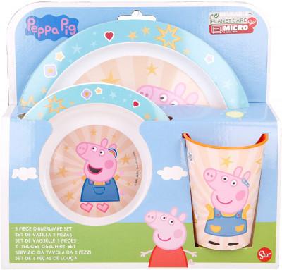 Conjunto Refeição Microondas Porquinha Peppa Estrelas