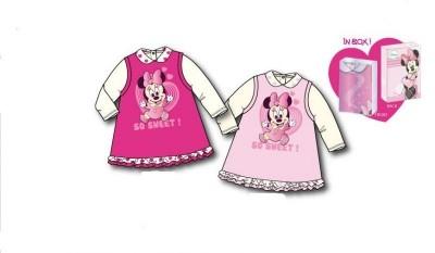 Conjunto vestido veludo e camisola Minnie Disney