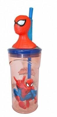 Copo c/palhinha 3D Spiderman