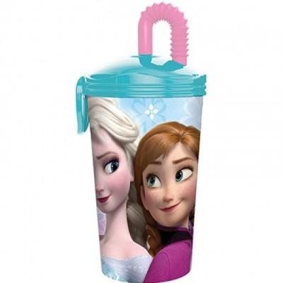Copo c/ tampa palhinha Frozen
