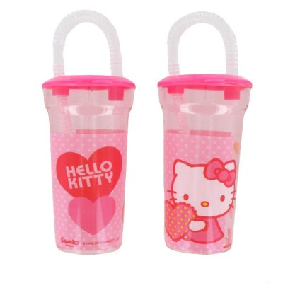 Copo com palha Hello Kitty