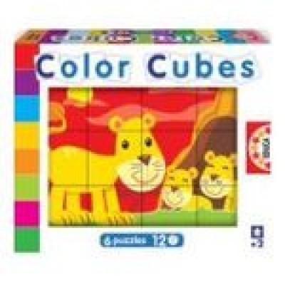 Cubos Infantis Coloridos O Leão