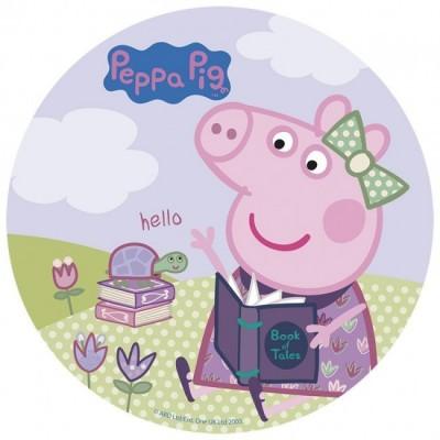 Decoração Bolo Obreia de Aniversário Porquinha Peppa - Hello