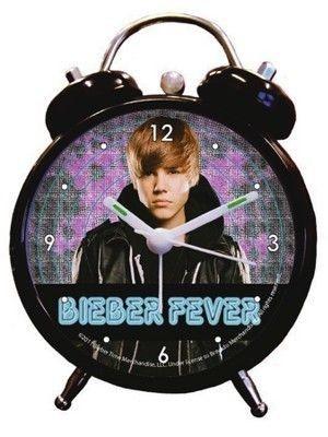 Despertador Justin Bieber Preto