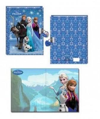 Diario 3D c/ cadeado Frozen Family