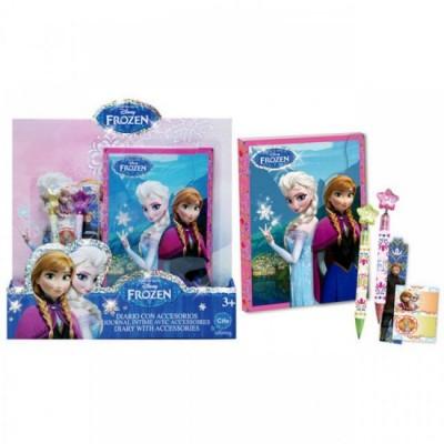 Diario c/ acessorios Frozen