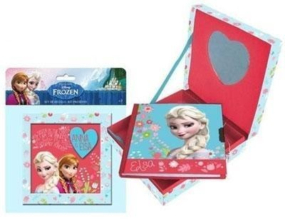 Diario c/ caixa Frozen Sisters