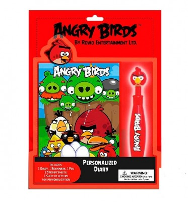 Diário personalizado Angry Birds