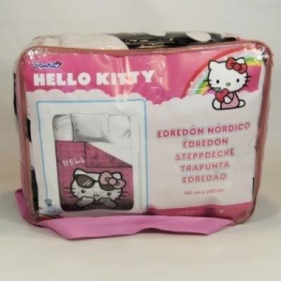 Edredon Hello Kitty rose - Solteiro