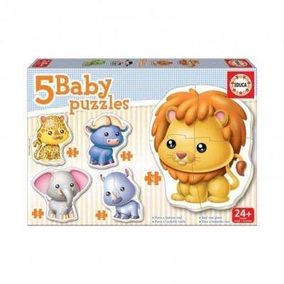 Educa 5 Baby Puzzles Animais Selvagens