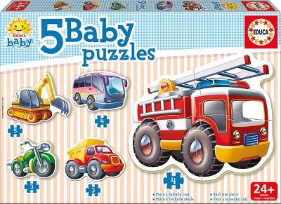 Educa - Puzzle Infantil Baby Veículos