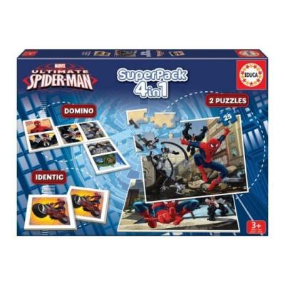 Educa Superpack 4 em 1 Spiderman