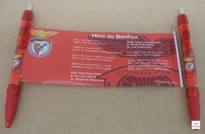 Esferografica com hino do Benfica