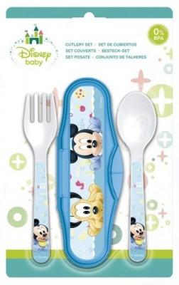 Estojo com  2 talheres Mickey bebé