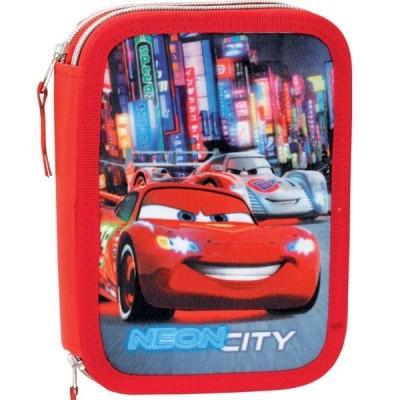Estojo Duplo Plumier Cars Disney - Neon